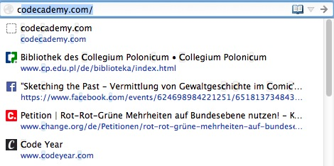 Browserhistorie
